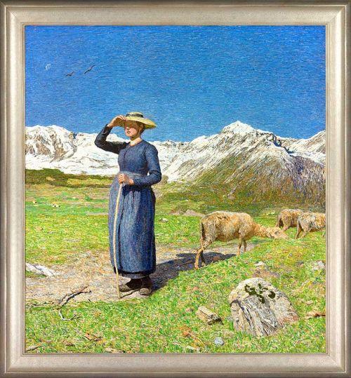 "Giovanni Segantini ""Mittag in den Alpen"""