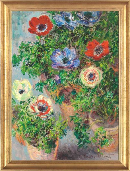 "Claude Monet ""Anemonen in einer Vase"""