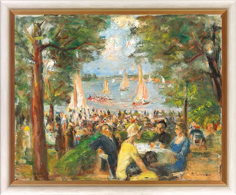 "Max Liebermann ""Gartenlokal an der Havel"""